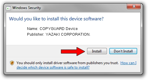 YAZAKI CORPORATION. COPYGUARD Device driver installation 1443192