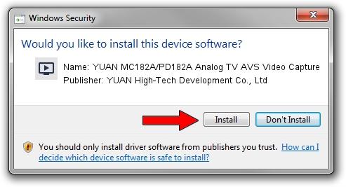 YUAN High-Tech Development Co., Ltd YUAN MC182A/PD182A Analog TV AVS Video Capture driver installation 1418060