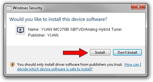 YUAN YUAN MC270B SBTVD/Analog Hybrid Tuner driver installation 896367