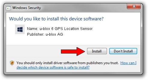 u-blox AG u-blox 6 GPS Location Sensor setup file 1637397