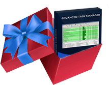 gift box containing advanced task manager box
